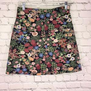 Zara floral mini skirt